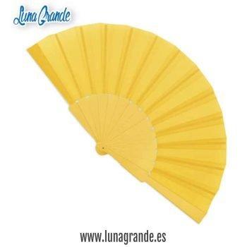 Abanico de plástico Amarillo