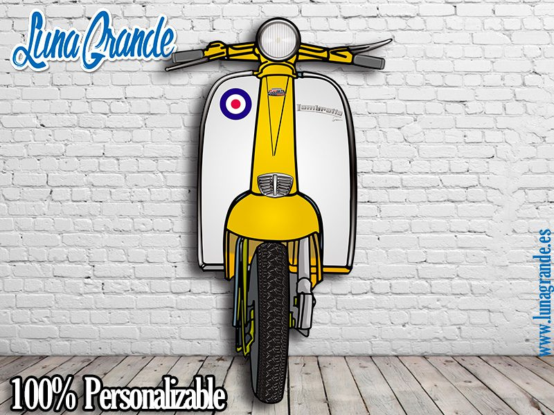 Photocall Moto Scooter Lambreta Amarilla