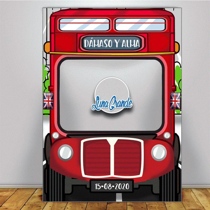 Autobús londres marco 100 x 140