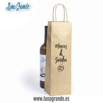 Bolsas de papel para botellas Corazones