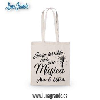 Bolsas de tela para bodas Música