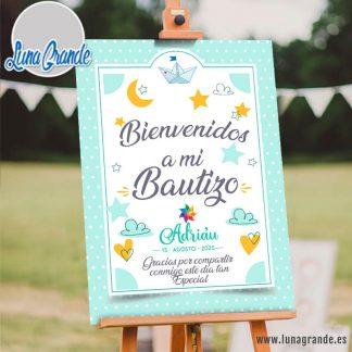 Cartel Bienvenida Bautizo Personalizado