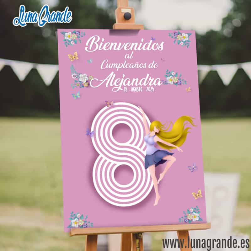 Cartel de Cumpleaños Ballet