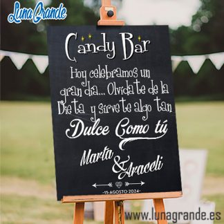 Cartel Mesas Dulces Candy Bar Pizarra
