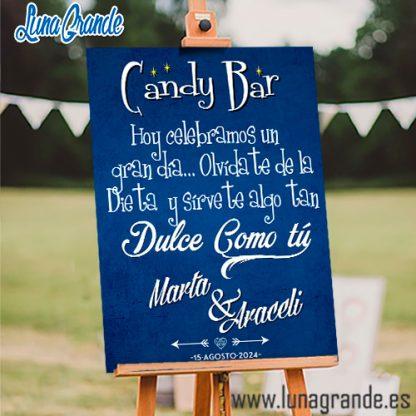 Cartel Mesas Dulces Candy Bar Pizarra