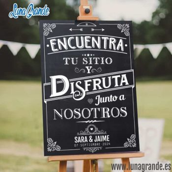 Cartel de Boda - Sitting Plan - Pizarra