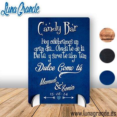 Cartel de Boda Mesa Dulce - Cartel de Primera Comunión Mesa dulce