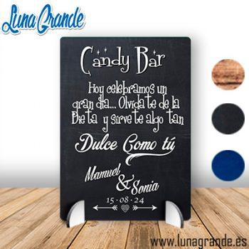 Cartel de Boda Mesa Dulce - Cartel de Primera Comunión Mesa dulce -Pizarra