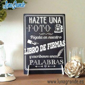 Cartel de boda Photocall Libro de firmas