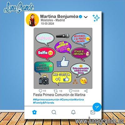 Photocall Marco Twitter Comunión