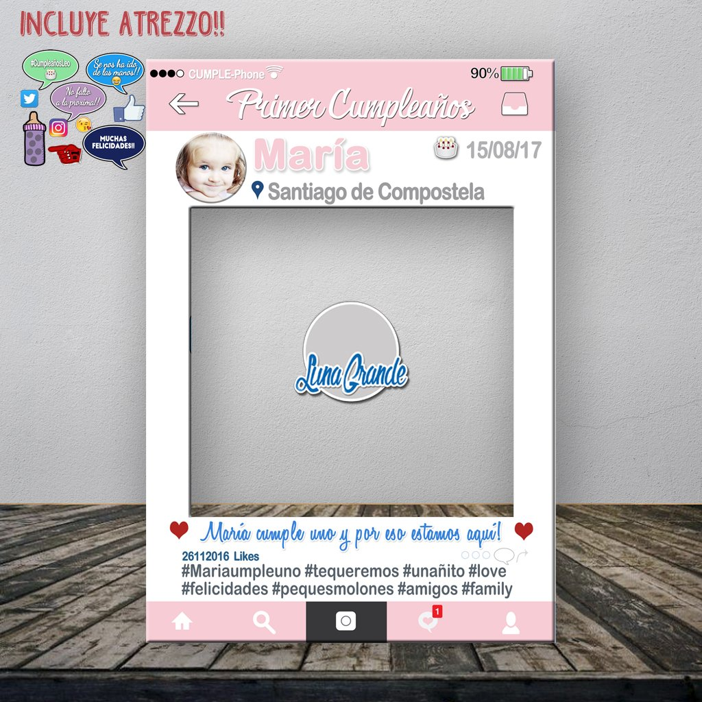 Photocall Marco Cumpleaños infantil 100% personalizado con Envío gratis