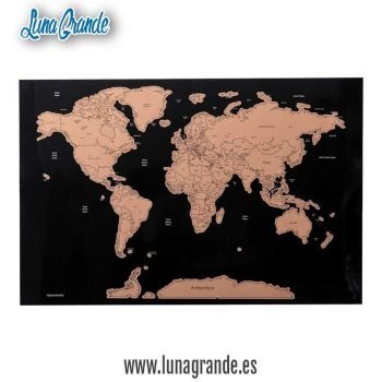 Póster Mapa Mundial Para Rascar