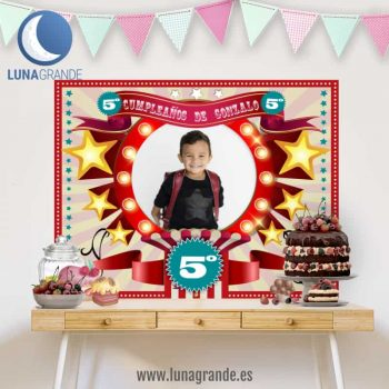 Fondo Mesa de Dulces Cumpleaños - Circo