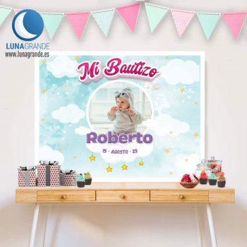 Fondo mesas dulces de Bautizo