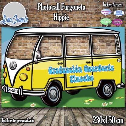 Photocall furgoneta hippie amarillo
