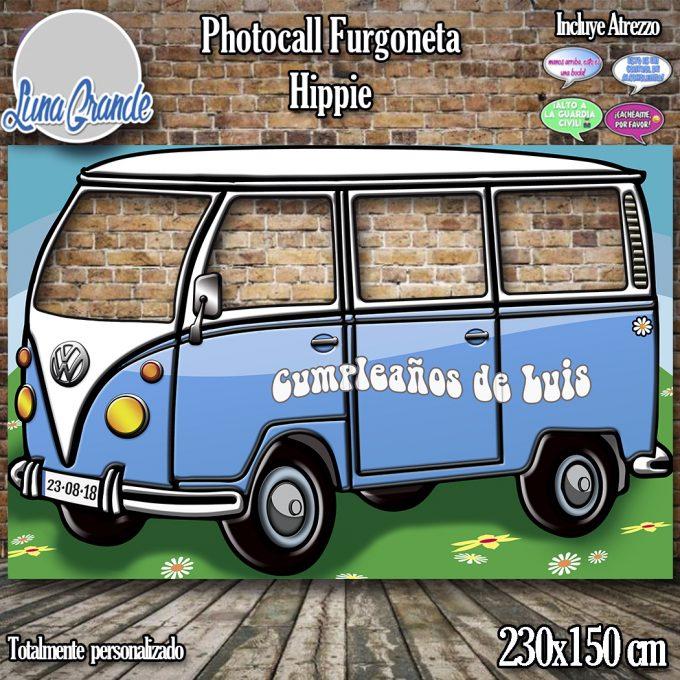 Photocall furgoneta hippie