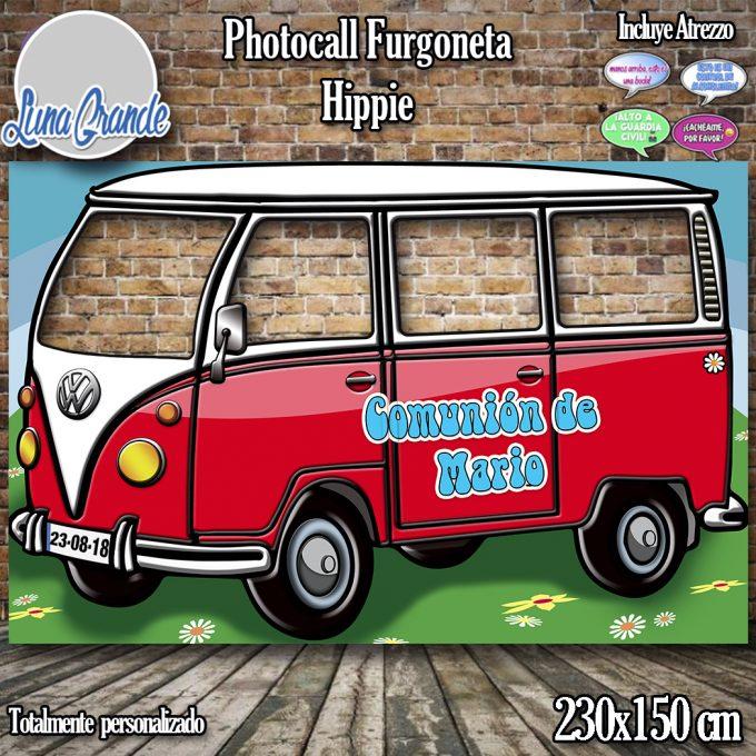 Photocall furgoneta hippie roja