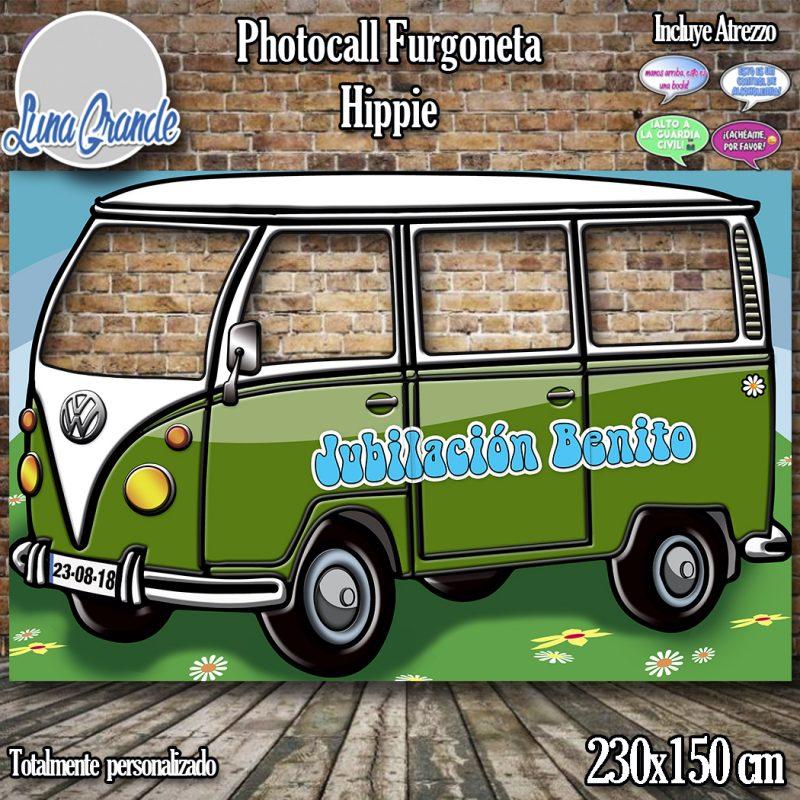 Photocall furgoneta hippie verde