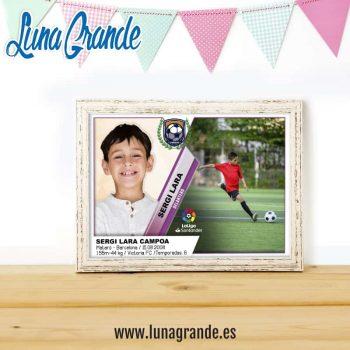 Lámina Cromo de Fútbol personalizada para Cumpleaños Niño