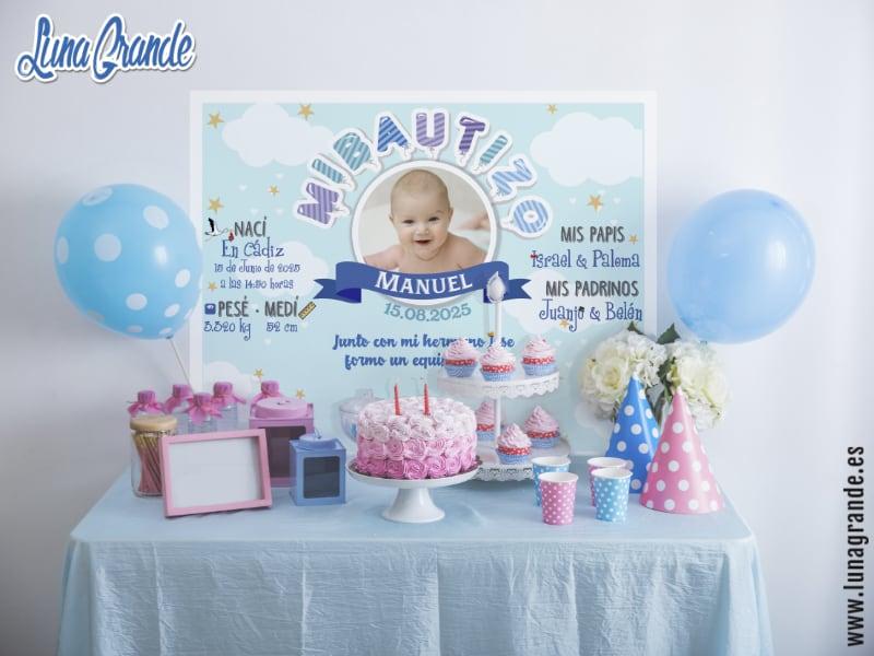Mesas dulces - Candy bar para Bautizos