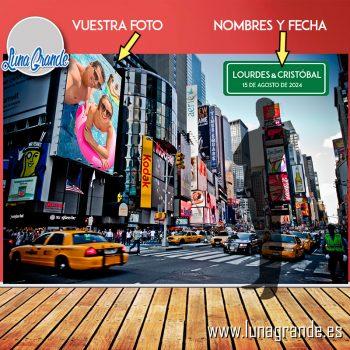 Photocall Lona Nueva York sin Estructura Personalización