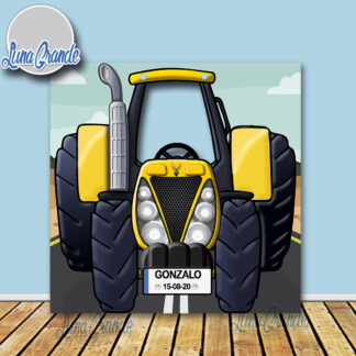Photocal infantil Tractor amarillo