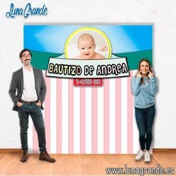 Photocall Bautizo niña con foto