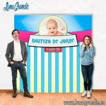 Photocall Bautizo niño con foto