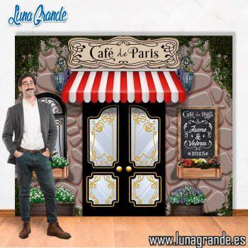 Photocall Boda Café de París