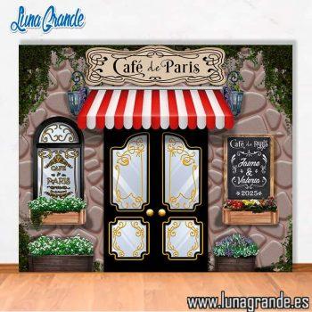Photocall Café de Paris para Bodas