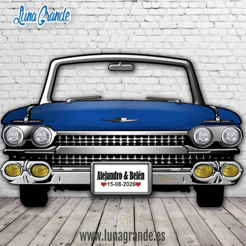 Photocall Cadillac el Dorado Azul