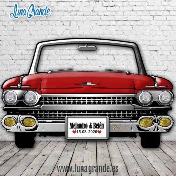 Photocall Cadillac el Dorado Rojo