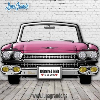 Photocall Cadillac el Dorado Rosa