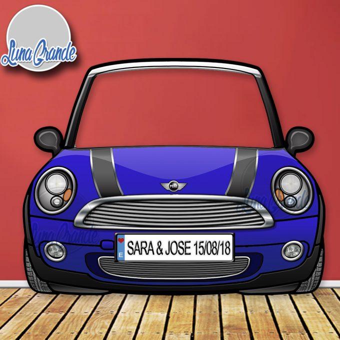 Photocall Coche MINI COOPER Azul - Luna Grande