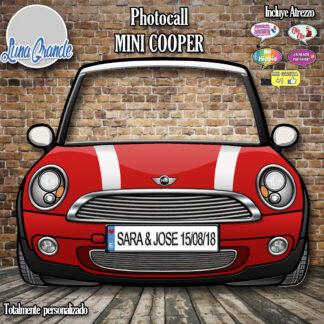 Photocall Coche Mini Cooper Cartón