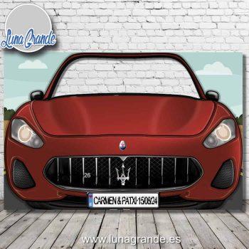 Photocall coche deportivo Maserati