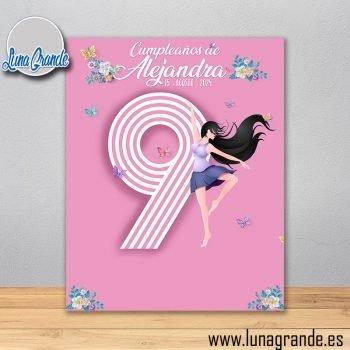 Photocall Cumpleaños Ballet 160 x 200