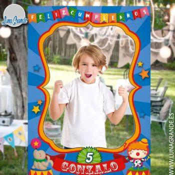 Photocall Cumpleaños Infantil Marco Circo Recortado