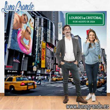 Photocall Fondo Nueva York