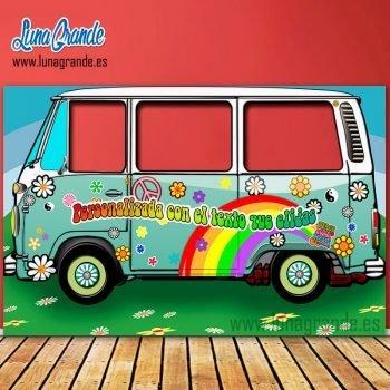 Photocall furgoneta hippie turquesa XXL