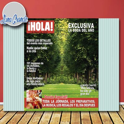 Photocall portada de revista Hola