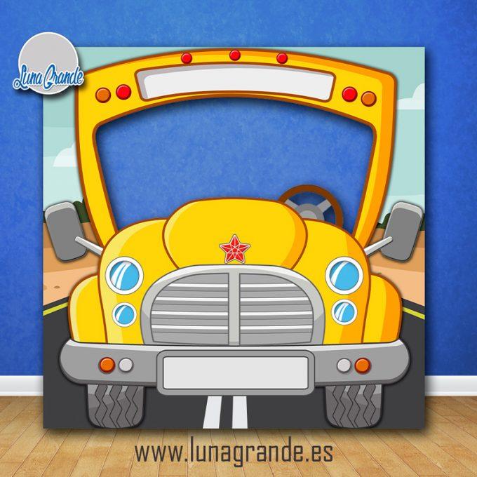 Photocall Infantil Autobús Escolar Sin Personalizar
