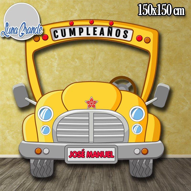 Photocall Infantil Autobús Escolar personalizado lg