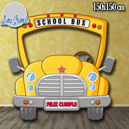 Photocall Infantil Autobús Escolar sin personalizar lg