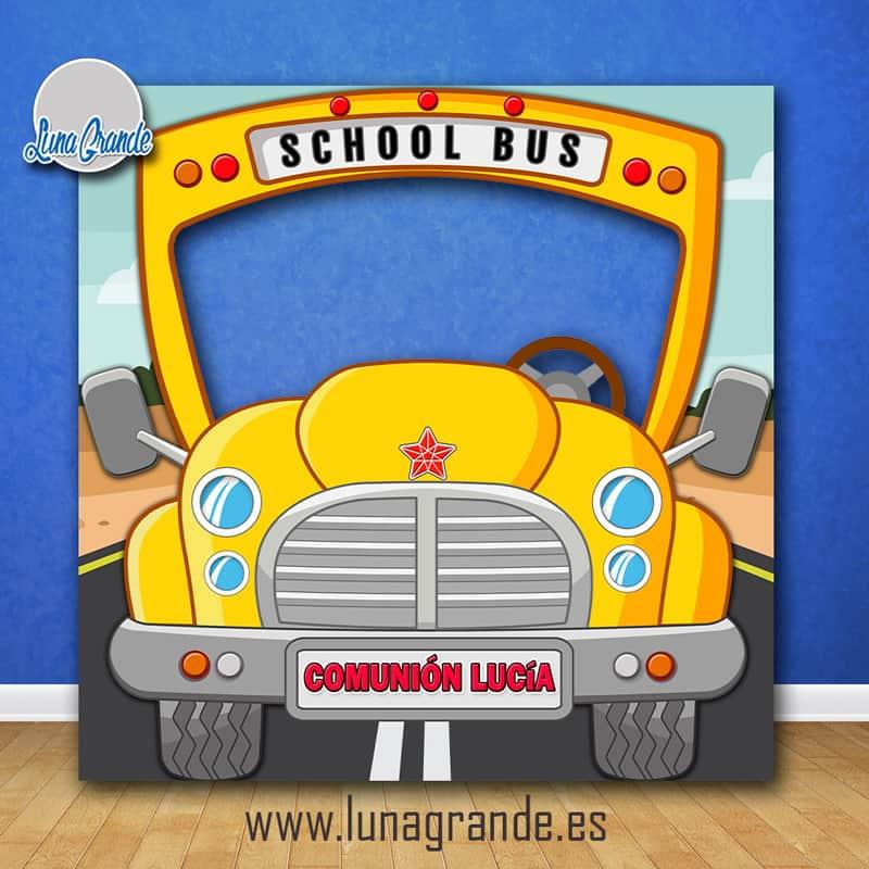 Photocall Infantil Autobús Escolar Personalizado