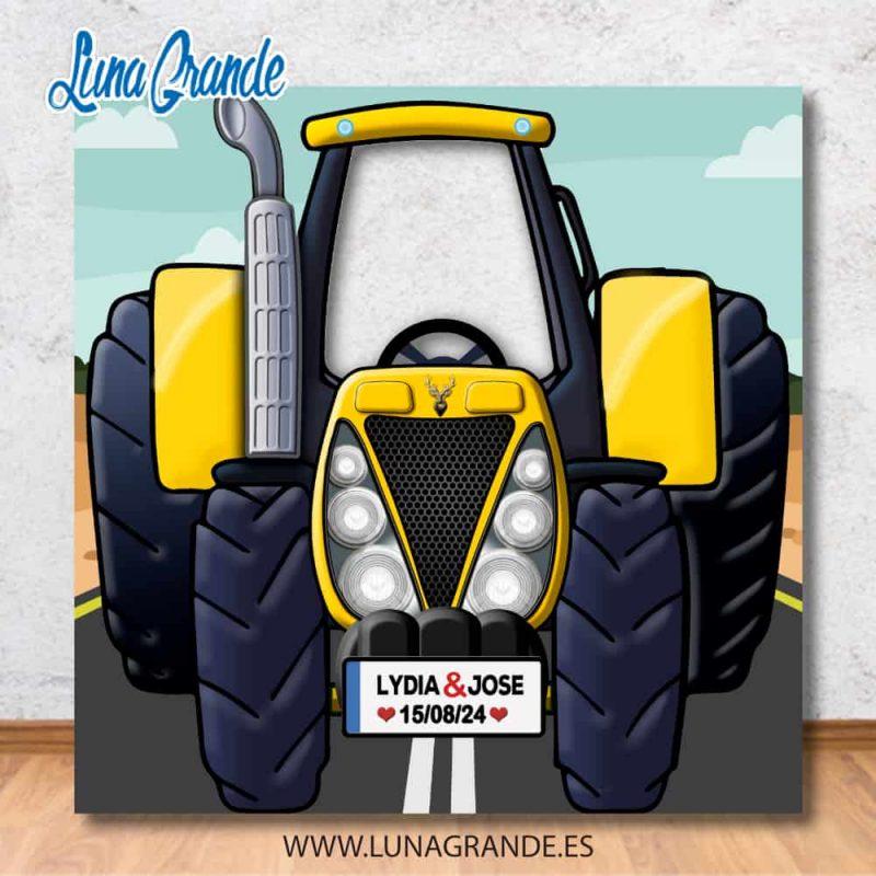 Photocal infantil Tractor amarillo