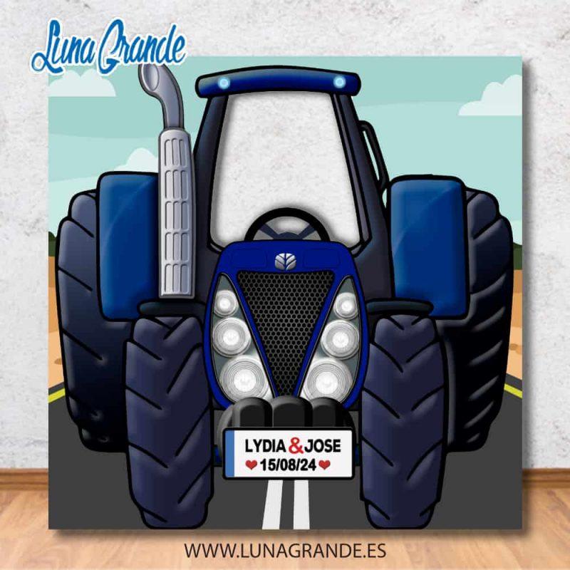 qPhotocall Infantil Tractor Agrícola New holland sin personalizar luna grande