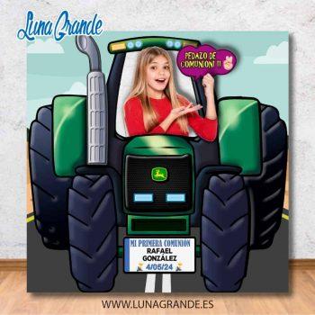 Photocall Infantil Tractor Agrícola Personalizado