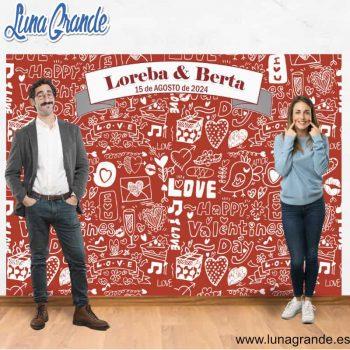 Photocall fondo para bodas Mosaico Love