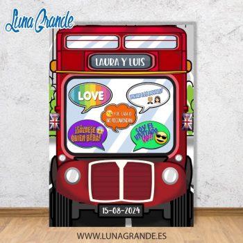 Photocall Marco Autobus Londres con atrezzo